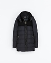 Combination Wool And Knit Puffer Jacket Coats Woman Zara United Kingdom