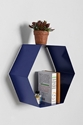 Hexagon Shelf In Blue Urban Outfitters