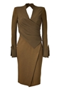 Donna c2 a0karan Brass c2 a0crepe c2 a0sculpted c2 a0bodice c2 a0angular c2 a0slit c2 a0dress LoLoBu