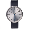 Uniform Wares 203 Series Calendar Wristwatch Brushed Steel Black Leather