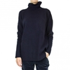 Massimo Alba navy loose fitting turtle neck sweater 7c RAILSO COM