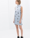Printed Dress With Back Zip Trf Dresses Woman Zara United Kingdom