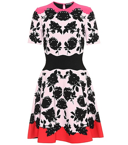 Alexander McQueen Jacquard Dress Multicoloured 6hnHKvRt