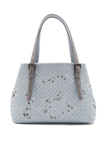 Bottega Veneta Intrecciato Small Leather Tote Light Blue lDUDsnnf