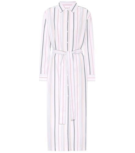 Asceno Striped Cotton Shirt Dress Multicoloured YdUiLOTdOn