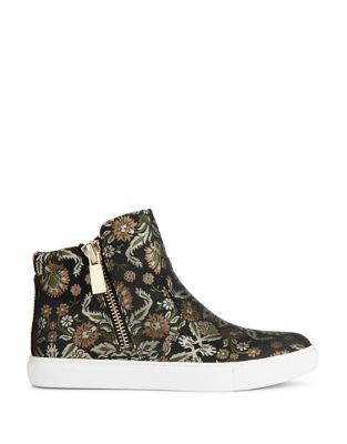 Cole Kenneth Sneakers Beige Multi Textile High Printed Kiera Top 1OwCOdq