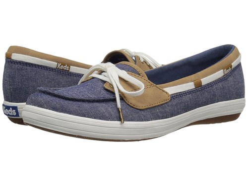 Women's Moccasin Chambray Glimmer Shoes Navy Keds cwqYyaZ86