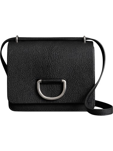 Burberry The Small Leather D Ring Bag Black 4vNnn