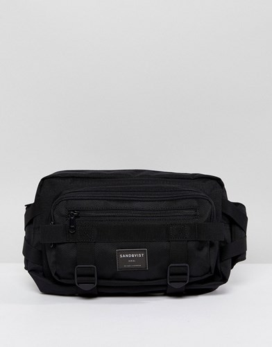 SANDQVIST Bum In Black Cordura Bag Lex 0S0w7