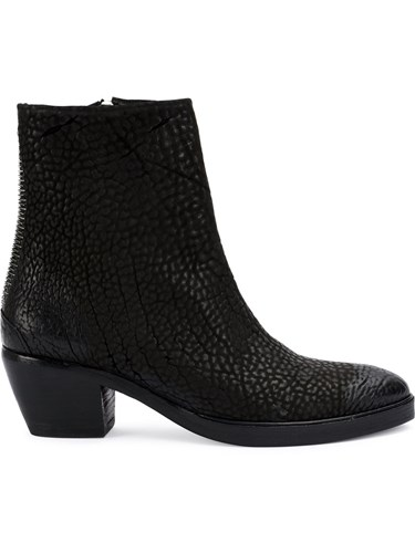 Textured Black Ankle The Leather Horse Last Leather Boots Conspiracy xgwwEtT