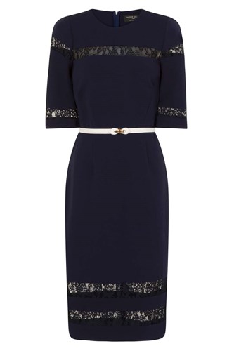 Dress Bodycon Paper Dorothy Lace Perkins Dolls Navy SAvqT0TYxw