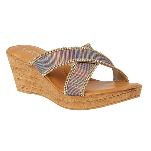 Lotus Arika Wedge Mules Multi Coloured Multi Coloured fgYw4Tzft