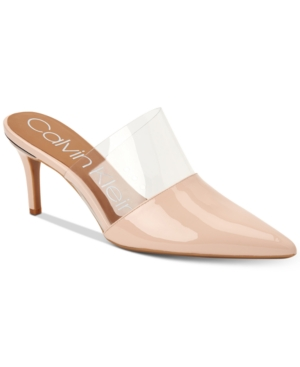 Shoes Mules Klein Women's Calvin Satin Graycie Women's Sheer nPFxX