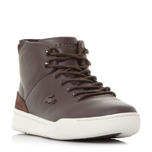 Cut Dark Explorateur Mid Cupsole Lacoste Cla Brown Trainers HaIOwTqP
