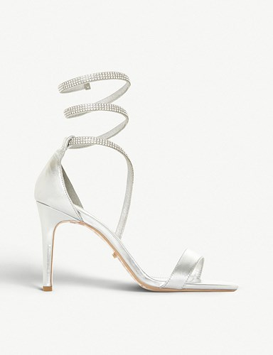 Dune Wrap Mylie Diamante Sandals Around Diamantes Silver 4wU00xpgq