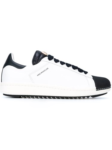 Top Low Lace Moncler White Sneakers Up Hfttx0