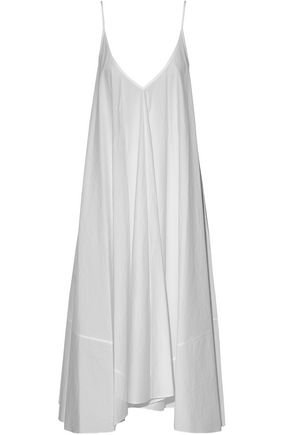 White Alexander Cotton Wang Poplin Asymmetric Dress wXHwf4qr