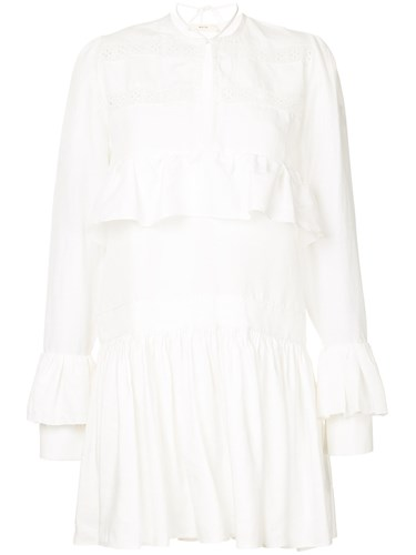 Haarlem Ruffle Dress Ruffle Haarlem Matin Dress White Matin Dress White Matin Ruffle White Haarlem pwAn56x5q