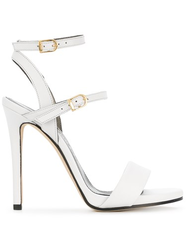 Marc Ellis Buckle Open Toe Sandals White ys7sy