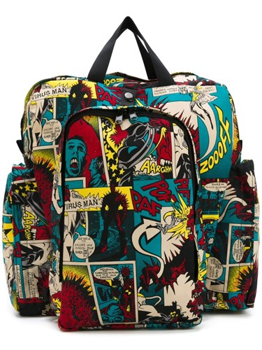 Printed Vintage Gaultier Backpack Paul Multicolour Jean RvZzC
