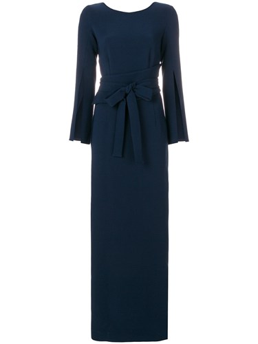 S Slit Gown O Blue R Sleeve H A P Crepe wPx4CqtSf