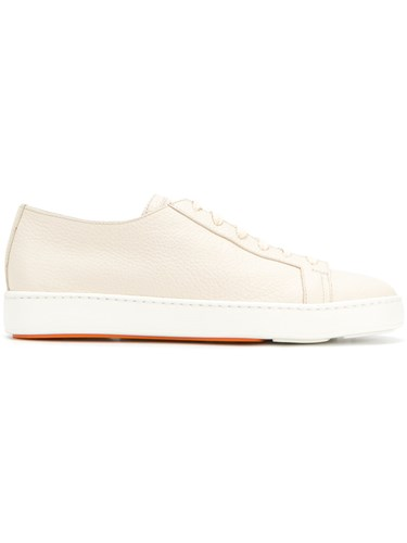 Santoni Denim Lace Up Sneakers Nude And Neutrals 2K0eE