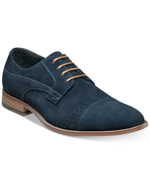 Stacy Adams Men's Deacon Suede Cap Toe Oxfords Men's Shoes Navy Suede S3m4XZuf
