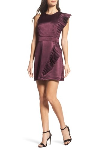 Satin Crown amp; Women's Dress Ali Pleated Jay Wine In Sw6IxXq
