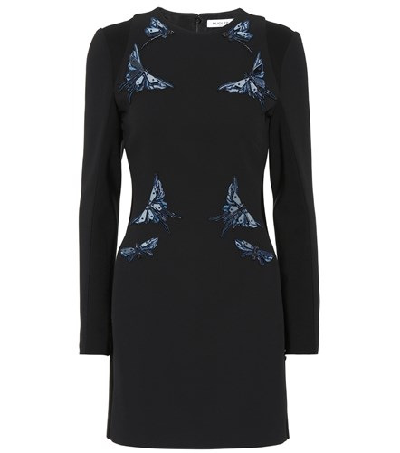 Dress Thierry Mugler Embellished Black Butterfly ttdrq