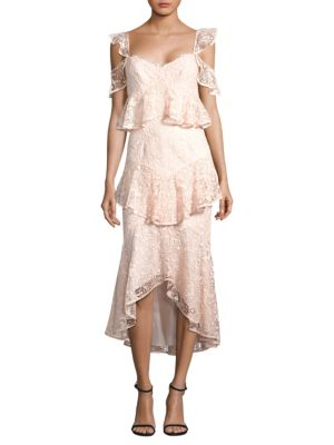 AMUR Dress Hayden Dress Lace Lace Hayden Blush Hayden AMUR AMUR Blush rWCrq4
