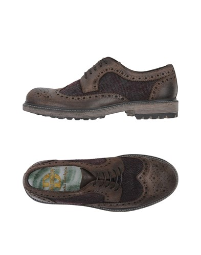 DAVIDSON Brown Up Lace Dark Shoes zzSRqH