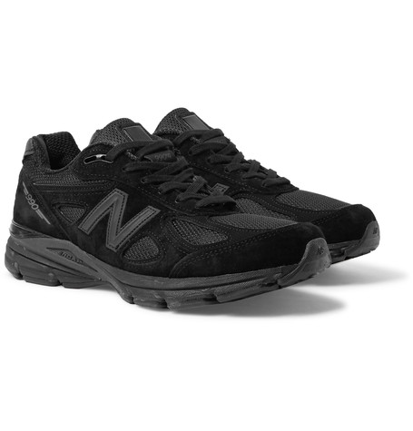 New Balance 990V4 Suede And Mesh Sneakers Black 88hoP