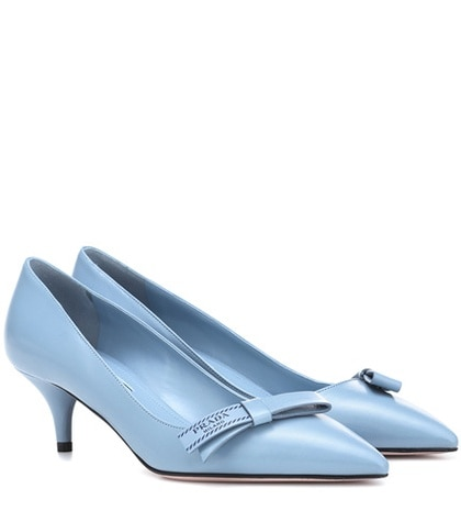 Prada Blue Pumps Pumps Pumps Leather Leather Leather Prada Prada Blue Blue Leather Prada CFwqw5