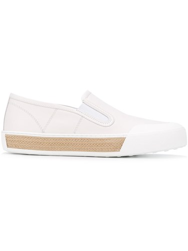 Tod's Slip On Sneakers Women Calf Leather Leather Foam Rubber 38 White a7AD7d