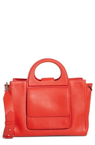 Coral Mara Orange Leather Max Grace Tote Medium 4wnvA