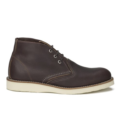 Red Wing Shoes Men's Chukka Leather Boots Briar Oil Slick Brown KsII7EUK