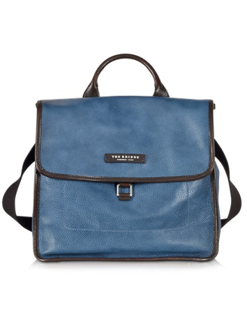 Leather Backpack Urban Small Bridge Blue The tqTXgx5X