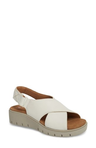 Leather Karely By Clarks Sandal Unstructured White OZqBq0Yx