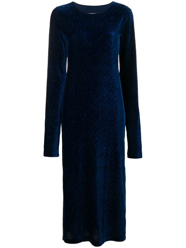 Blue Mm6 Margiela Dress Fitted Midi Maison Silhouette Martin wp0WqPqO6