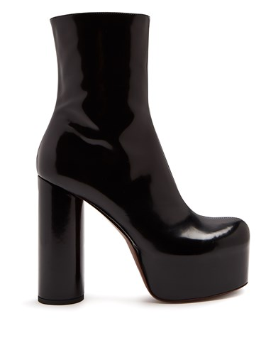 Block Black Heel Leather Boot Vetements axY54qUwf
