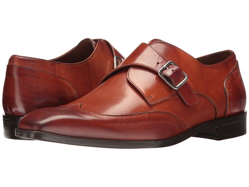 Single Tip Slip Monk Shoes Wing Brandy Men's On Massimo Brown Matteo CwqI5ng
