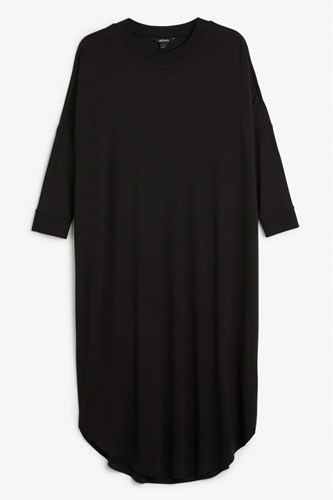 Monki Oversized Dress Black pEKdYTg