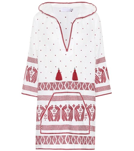 Zimmermann Exclusive To Mytheresa.Com Embroidered Linen Kaftan White sjAdGleMm