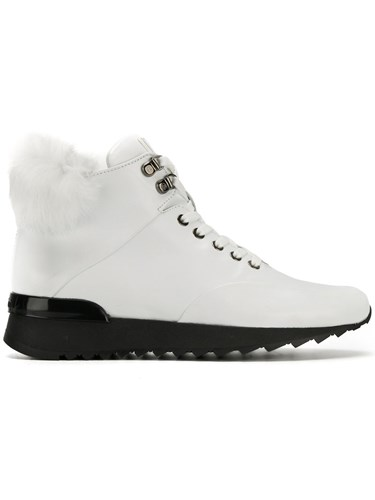 Baldinini Mountain Boots Calf Leather Leather Rabbit Fur Rubber White cYEdg