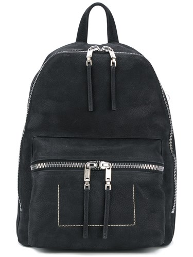 Rick Owens Double Zip Backpack Black TOy41