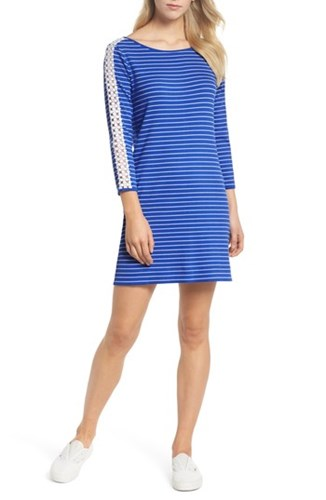 Marlowe Beckon Dress Pulitzer Blue Lilly Breeze Stripe Shift C5xBOaqFw
