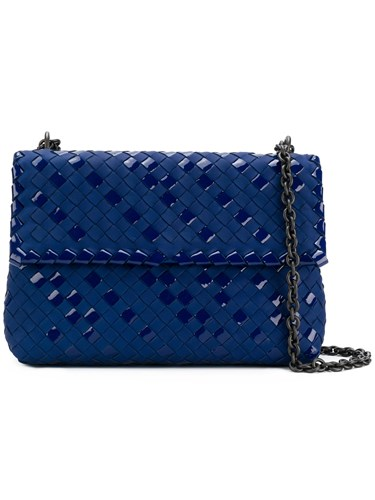 Small Bottega Veneta Bag Olimpia Shoulder Blue Ya1545zn