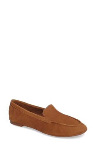 Seychelles Women's Exploring Loafer Flat Cognac Suede 6Jym5Lyc