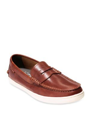 Cole Haan Pinch Weekender Leather Penny Loafers British Tan BTB1Z