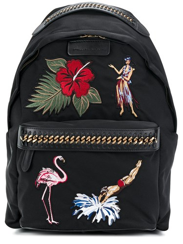 Backpack Tropical Black Falabella Embroidery Stella McCartney IUqEFF